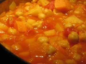 curried chickpea and pumpkin stew